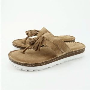 Seychelles Ahead Womens Size 6 Sand Suede Sandals